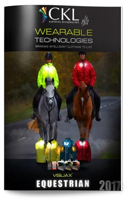 CKL's revolutionary LED wearable technology is visible even in zerolight conditions.