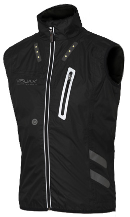 VISIJAX - LED Outdoor Sports Gilet black