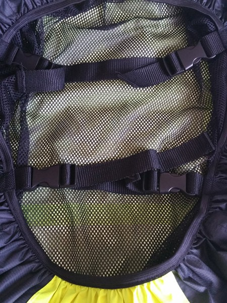 Backpack cover inside