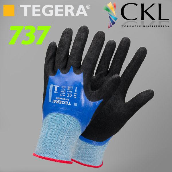 TEGERA®737 by Ejendals: BEST All-Round Nitrile-Grip Gen. Work Glove