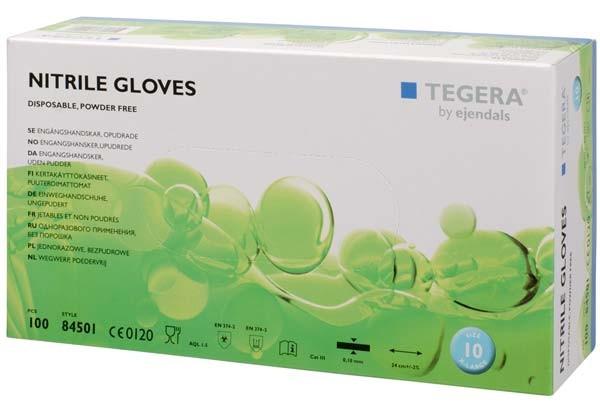 TEGERA® 84501: Disposable Nitrile Food Grip Non-powder Precision Gloves