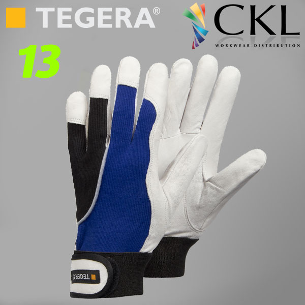 TEGERA®13: Ergonomic Light & Dextrous Goatskin Unlined Gloves