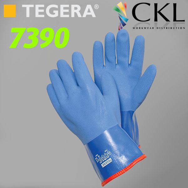 TEGERA® 7390: Winter (-40ºC) Chem. Nitrile (Foodsafe) Gloves