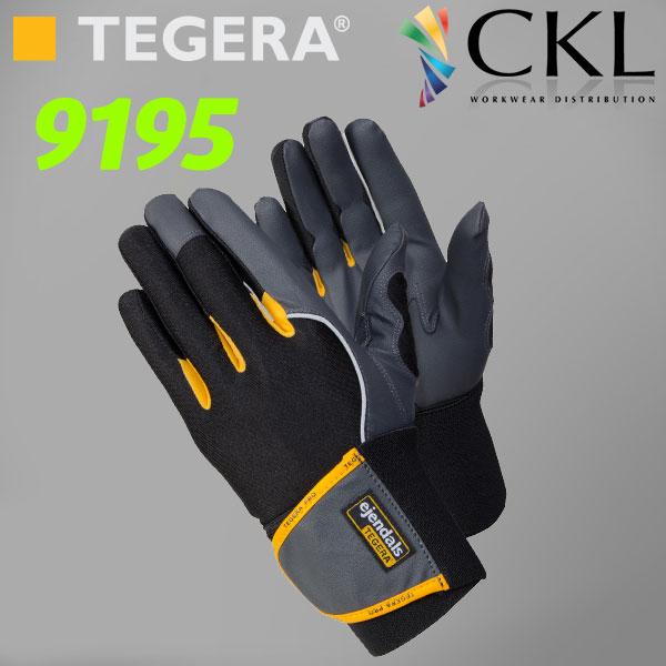 TEGERA®9195: Wrist-Support Hi-Grip MicroThan Light Comfort Gloves
