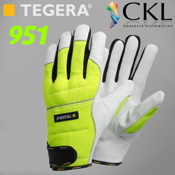 TEGERA®951: Chainsaw Dyneema/Leather Ergonomic Vis Gloves