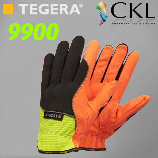 TEGERA®9900: Hi-Vis Ergonomic Polythan Unlined Gloves