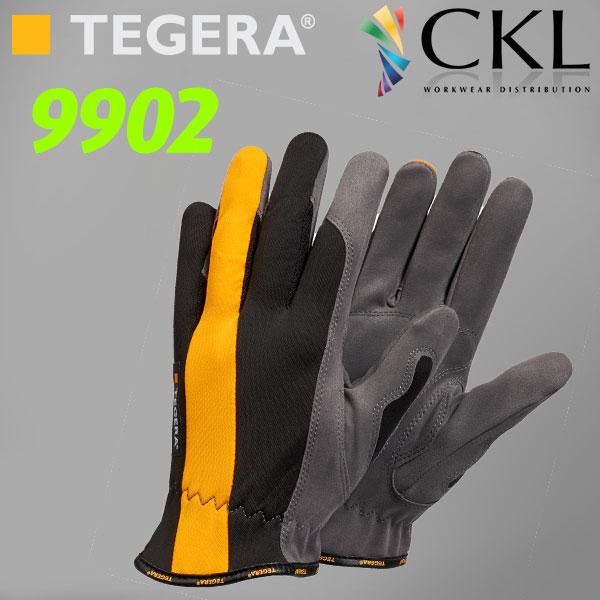 TEGERA®9902: Ergonomic Unlined Polythan® Gen. Hi-Vis Gloves