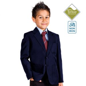 Boys' Machine-Washable School Blazer-burgundy