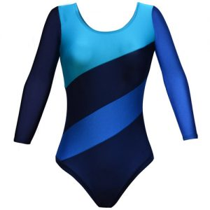 Girls' & Ladies' Multi Panel Long Sleeve Gymnastic Leotard