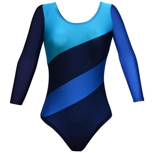 Girls' & Ladies' Multi Panel Long Sleeve Gymnastic Leotard