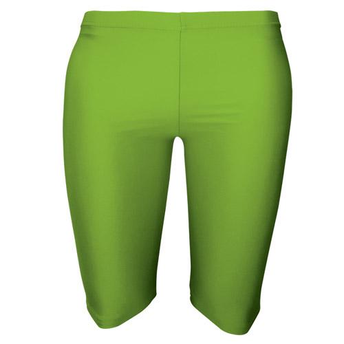 Girls' & Ladies' Hi-Stretch Shiny Dancing Shorts - DSTG01S-Fluorescent-green