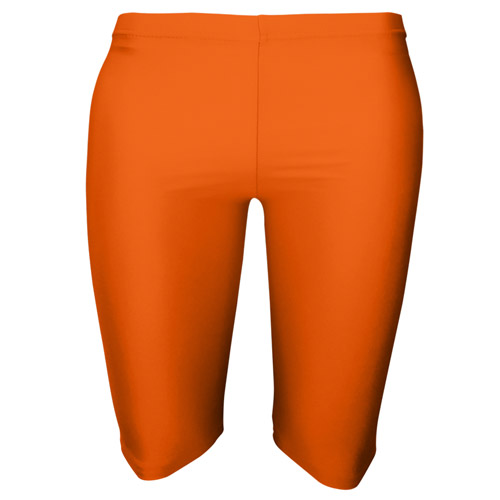 Girls' & Ladies' Hi-Stretch Shiny Dancing Shorts - Girls' & Ladies' Hi-Stretch Shiny Dancing Shorts - DSTG01S-Fluorescent-oreange