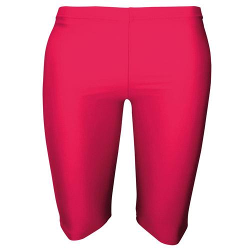 Girls' & Ladies' Hi-Stretch Shiny Dancing Shorts - Girls' & Ladies' Hi-Stretch Shiny Dancing Shorts- DSTG01S-Fluorescent-pink