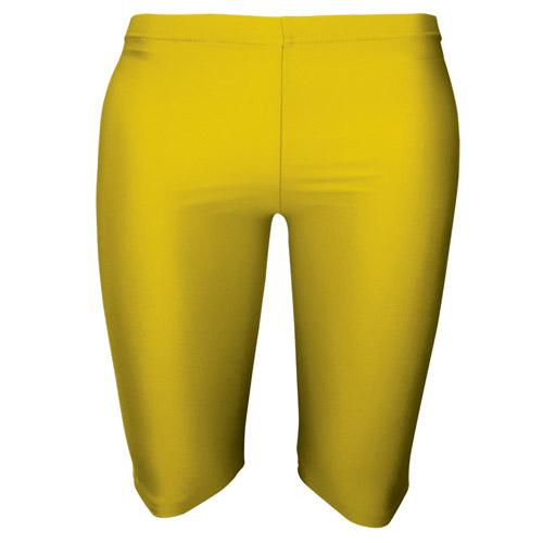 Girls' & Ladies' Hi-Stretch Shiny Dancing Shorts - DSTG01S-Fluorescent-yellow