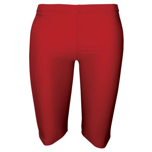Girls' & Ladies' Hi-Stretch Shiny Dancing Shorts - DSTG01S-red