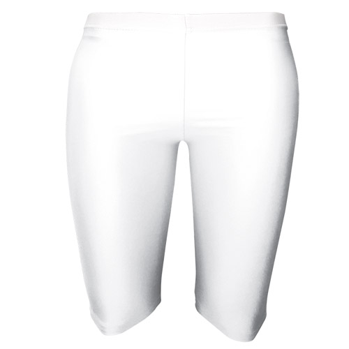Girls' & Ladies' Hi-Stretch Shiny Dancing Shorts - DSTG01S-white