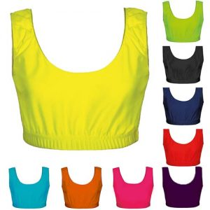 200gsm Girls Hi Stretch Shiny Crop Top - DTOG01S