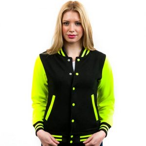 Adults' Electric Varsity Jacket-electric