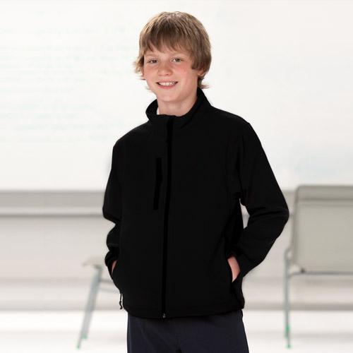 Kids Soft Shell Jacket-BLACK