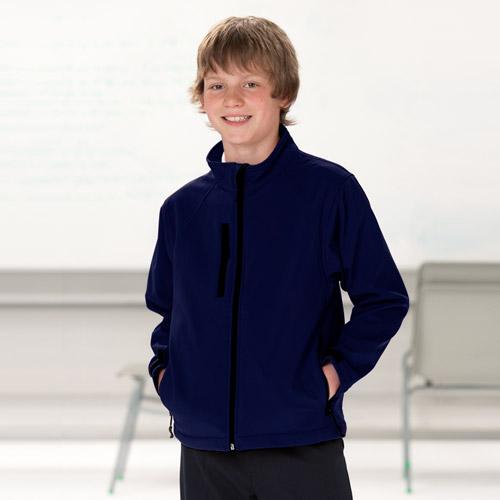 Kids Soft Shell Jacket-NAVY
