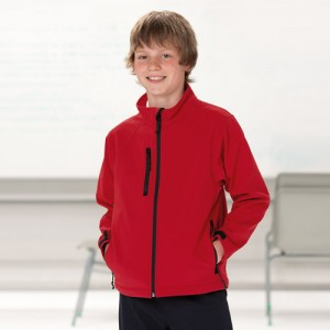 Kids Soft Shell Jacket-Red