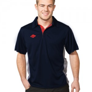 Work Technical Contrast Polo-navy