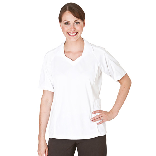 Bowling Top Open V-Neck with Collar