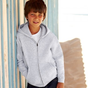 Hooded Full-Zip Set-In Sweatshirt