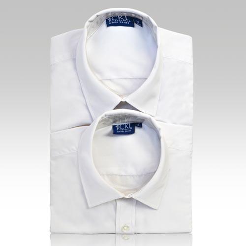 CSHB12-CKL Schoolwear TWINPACK Boys School Shirt S/S-white