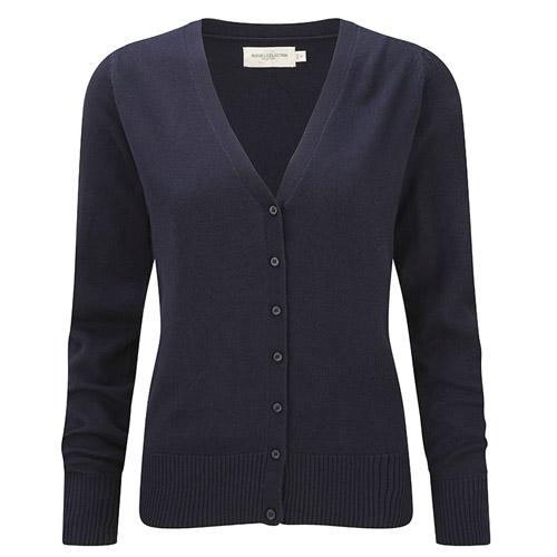 Ladies V-Neck Knitted Cardigan-JCAL715-black