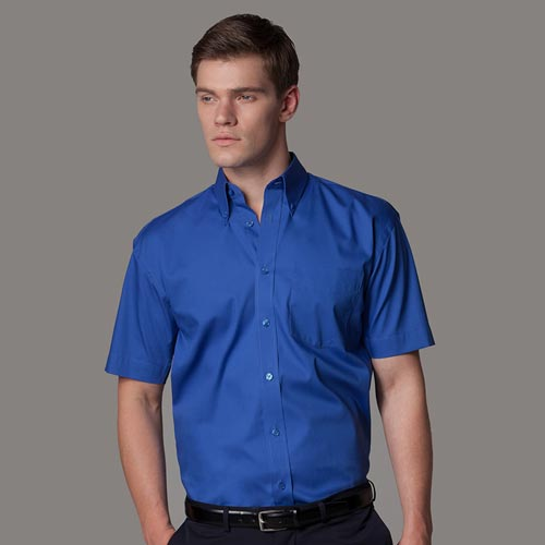 Corporate Oxford Shirt (mercerised, Short-Sleeve)-KK109-main