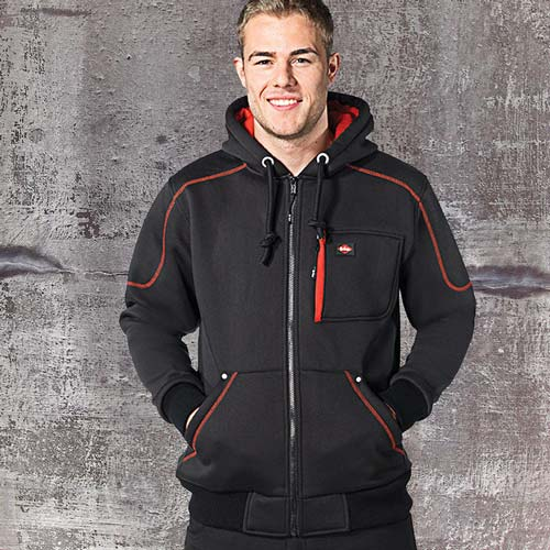 LCSWT105-420g 65/35 PC Sherpa-Lined Bonded Hooded Sweat