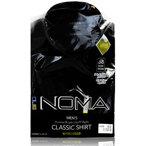 NSHA01T-Noma Men's Tailored Classic Shirt L/S-black-pck