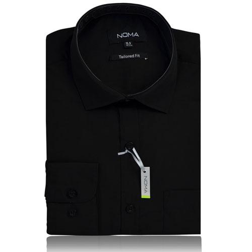 NSHA01T-Noma Men's Tailored Classic Shirt L/S-black