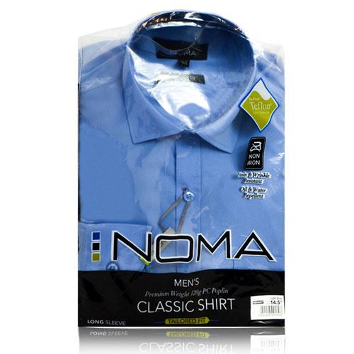 NSHA01T-Noma Men's Tailored Classic Shirt L/S-blue-pck
