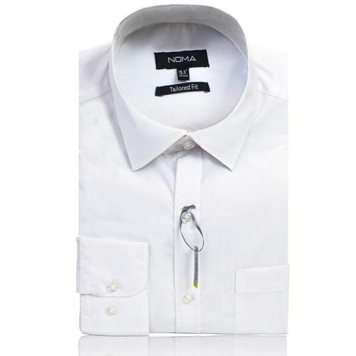 NSHA01T-Noma Men's Tailored Classic Shirt L/S-white
