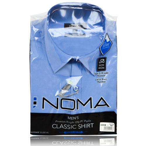 NSHA02-Noma Men's Tailored Classic Shirt S/S-blue-pck