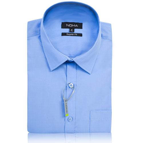 NSHA02-Noma Men's Tailored Classic Shirt S/S-blue