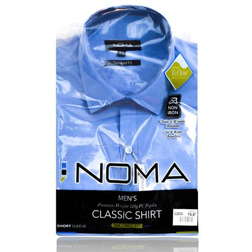 NSHA02T-Noma Men's Tailored Classic Shirt S/S-blue-pck