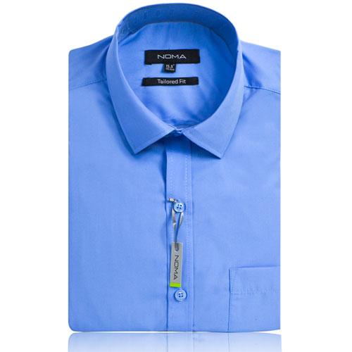NSHA02T-Noma Men's Tailored Classic Shirt S/S-blue