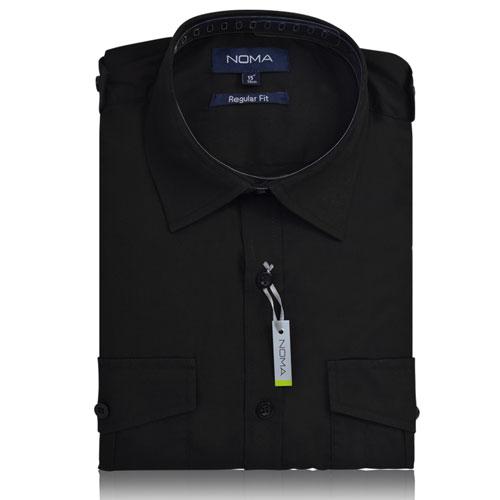 NSHA03-Noma Men's Pilot Shirt L/S-black