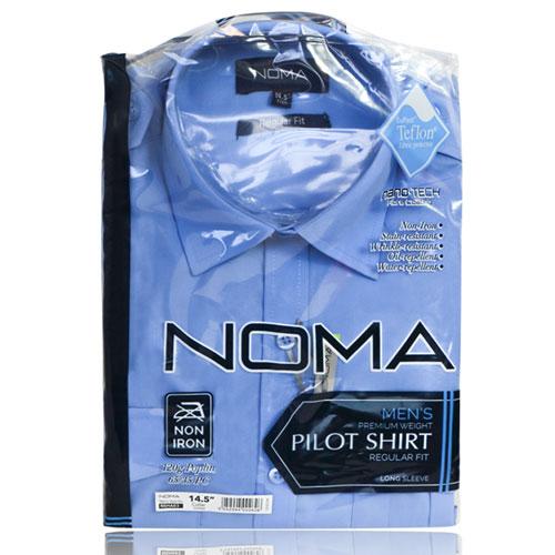 NSHA03-Noma Men's Pilot Shirt L/S-blue-pck