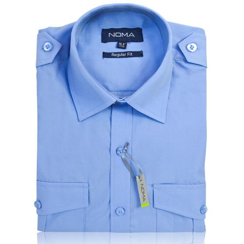 NSHA03-Noma Men's Pilot Shirt L/S-blue