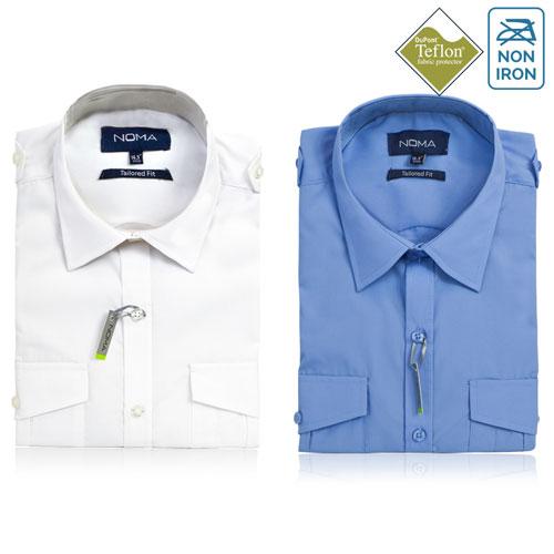 NSHA03T-Noma Men's Tailored Pilot Shirt L/S-ALL
