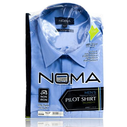 NSHA03T-Noma Men's Tailored Pilot Shirt L/S-blue-pck
