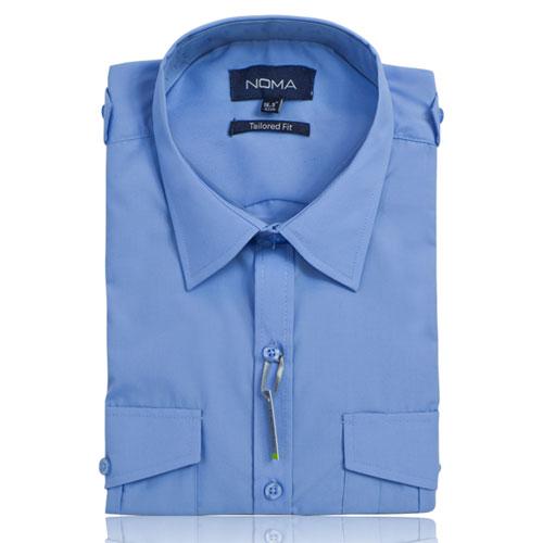 NSHA03T-Noma Men's Tailored Pilot Shirt L/S-blue