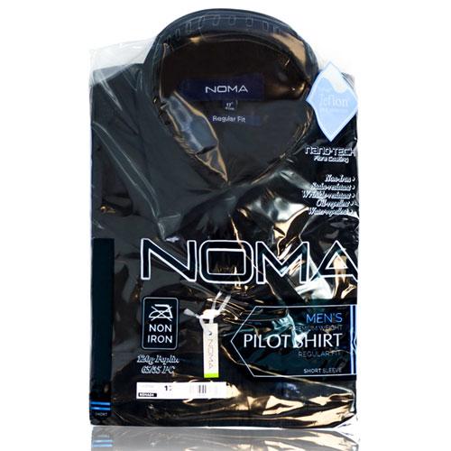NSHA04-Noma Men's Pilot Shirt S/S-black-pck