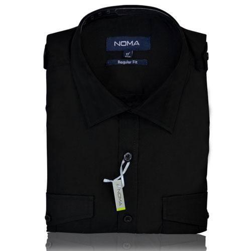 NSHA04-Noma Men's Pilot Shirt S/S-black