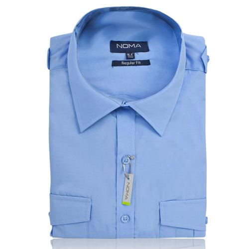 NSHA04-Noma Men's Pilot Shirt S/S-blue