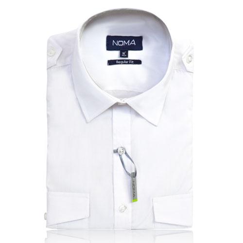 NSHA04-Noma Men's Pilot Shirt S/S-white